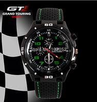 GT Watch Wristwatches Men Sports Watch Luxury Brand Silicone Strap Fashion Quartz Movement Men Military Wristwatch Men's Watches