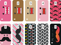 new design PINK AND BLUE MOUSTACHE  case hard back cover for samsung Galaxy s5 9600 10PCS/lot+free shipping