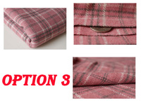 Foreign trade dyed pink plaid woolen fabric of British style denim jacket winter clothing wool dress