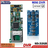 High Image Quality H.264 1-ch HD DVR module support key
