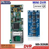 High Image Quality H.264 1-ch HD DVR module support key