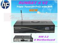 Satellite receiver dm800se v2 wifi triple tuner DVB-S2/C/T2 Sunray SR4 v2 SUNRAY4 V2 built-in wifi Sim2.20 sr4 v2 400Mhz CPU