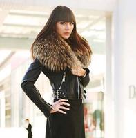 Top Quality Fashion Womens Luxury Super Large Real Fur Sheepskin Genuine Leather Zipper Coat Slim Short Jacket Free Shipping
