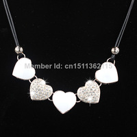 Free shipping 2014 latest hot sale fashion jewelry style heart statement collar necklaces for Women