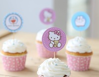 cake packProduct packaging Hello kityy La A dream series cake inserted card socket decoration