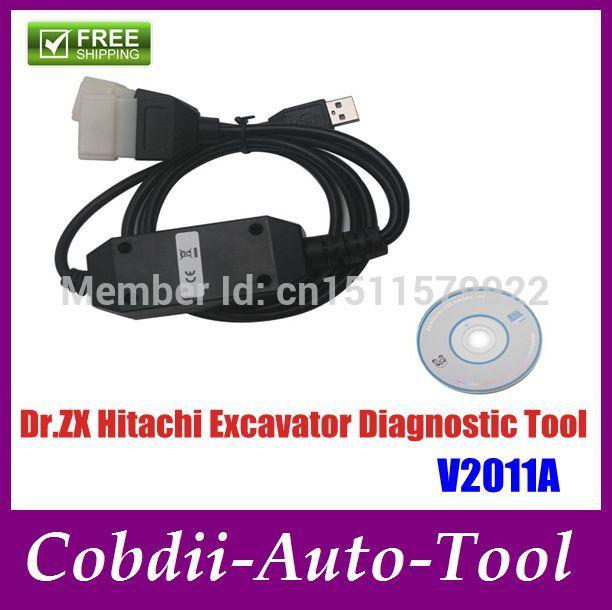 Big Promotion! Hot Dr.ZX Hitachi Excavator Diagnostic Tool V2011A high quality Free Shipping(China (Mainland))