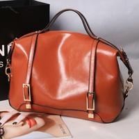 Lather-bag full genuine leather quality elegant ladies business casual women's handbag messenger bag