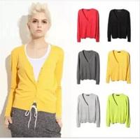 Free size brand Women Sweater coat  Autumn Korean female cardigan fashion knitwear ,candy color single button