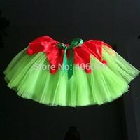 Wholesale Kids Girl Christmas Tutu Skirt Princess Dance Party Skirts Children Holiday Gift Free Shipping