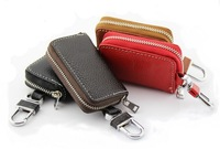 2014 New Unisex Short Key Bag Case, Genuine Cow Leather Women Key Bags ,Leather Car Key Holder For Man Solid Key Wallet