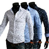 Free Shipping new fashion 2014 handsome sportsman shirt casual shirt men's long sleeve shirts man slim fit YZ9100