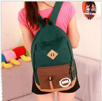 2014 New women backpack Women's Colorful Canvas Backpacks bolsas Girl kids Student children School backpacks Travel bags mochila
