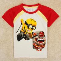 NOVA kids Despicable Me boy short sleeve T-shirt  C5132Y#