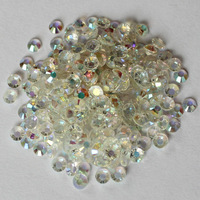 Free Shipping! 2000pcs/lot 5MM SS20 Crystal Clear AB Color Flatback Resin Rhinestone Nail Art 14 Facets Jewelry DIY Craft