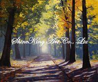 handpainted  impressional landscape oil painting on canvas fine art home decor FJI2207 50x60cm