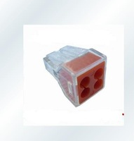 Free shipping,NEW  WAGO 773-104 Push 4 Wire Wiring Connector For Junction Box 4 Pin Conductor Terminal Block * AWG 18-12