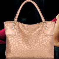 Champagne Portable Shoulder Stone Pattern Diagonal Handbags Free Shipping