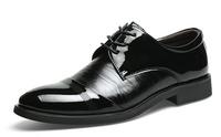 2014 new men dress shoes men genuine leather shoes oxford shoes for men formal business shoes men, size:38-44 Brown Black