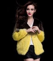 Autumn Lady Fashion Genuine Knitted Mink Fur Jacket Coat Winter Women Fur Blazer Cardigan Outerwear Coats Overcoat VK1479