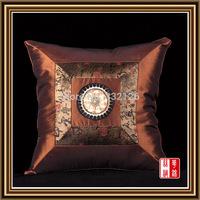 PCS10-7 100% silk Luxury Factory Wholesale Free Shipping Square Pillowcase Pillow Cover Cushion Case Satin Bed Sofa car Decor