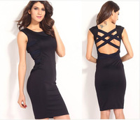 New Arrive 2014 Ladies Fashion Pencil Dress Knee-Length Midi Sexy Bandage Bodycon Dresses Women with elasticity