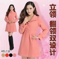2014 autumn and winter overcoat female medium-long single breasted wool slim wool coat outerwear female