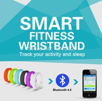 2014 New Arrival!!! Bluetooth 4.0 Sport Health Smart Wrist Band Bracelet Activity Tracker Watch Free Shipping