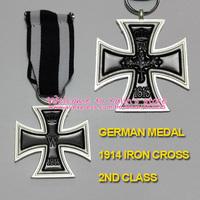 XDM0008 5 Pcs German 1914 Iron Cross 2nd Class with Ribbon World War I Military Decoration Deutschland Eisernes Kreuz II. Klasse