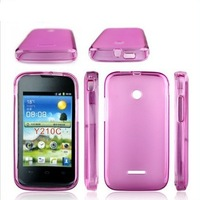 Free Shipping 2014 New Top Quality Soft TPU Gel S line Skin Cover Case For Huawei Ascend Y210 Y210C Y210D