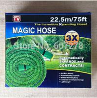wholesale 50 pcs/lot 75 FT Expandable & Flexible WATER GARDEN hose with Blue water gun