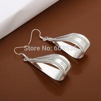 Free Shipping Wholesale fashion jewelry Earrings ,925 Sterling silver Earrings .  QE468