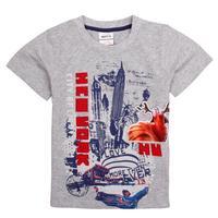 FREE SHIPPING C4900# 18M-6Y 5piece/lot  printed cartoon character  short sleeve summer boy short T-shirt