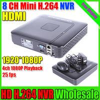 Free shipping New 1080P/960P/720P HD Recorder Cloud P2P ONVIF H.264 8CH NVR IP Camera Recorder Surveillance Cloud P2P ONVIF NVR