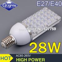 E40 28W LED street light road lamps 3360LM, 3 year warranty , 28 * 1W Free shipping AC85-265V LED streetlights