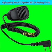 High-quality Mini PTT Speaker MIC For Radio Kenwood QUANSHENG PUXING WOUXUN TYT HYT BAOFENG UV5R 888S