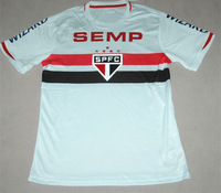 ( ^_^ ) Free Shipping Top Thailand Quality 14 15 Sao Paulo Home Red Black  Soccer Jersey