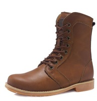 High Quality 2014 Plus Dize Winter Brand Men's Snow Boots Genuine Leather ankle boots Fshion Cowboy military boot 3