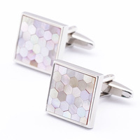 The Unique Design Square Hellenic historical tracery Shirt cuff Cufflinks cuff links for men's gift