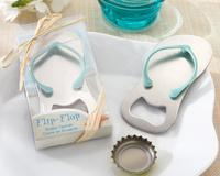 Pop the Top' Flip Flop Bottle Opener 100pcs/lot Wedding Favors Gift bule color free shipping