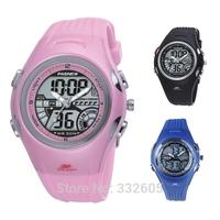 Brand PASNEW  High Quality Top 30m Kids Student Waterproof Watch Clock Dual Time Children Boy Girls Sport Digital WristWatches
