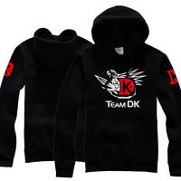 New dota 2 DK teams autumn thin cosplay anime game boy men hoodie hoody sweatshirts