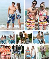 Discount! 21 patterns! Shorts Men 2013 Beach short Plus size Fashion short Pants for Lovers women mens swimming shorts 2pcs