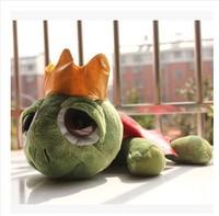 Toys genuine trumpet 25 cm cartoon crown big turtle plush toy doll