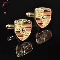 Promotion !! Car Emblem Cufflink Brand Car Mark Male Dress Shirt Cuff Link Drop Shipping For Men's Gift