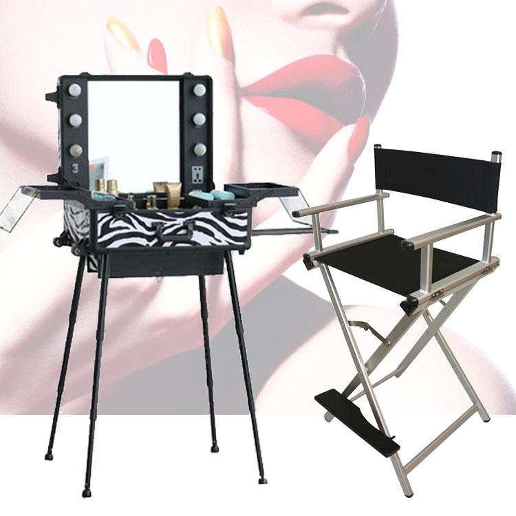 1set Lot Lighting Makeup Table With Portable Chair