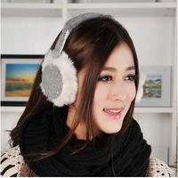 new 2014 original single earmuffs winter warm earmuffs Ms sequins ear package Ear wearing super quality trend muffes women