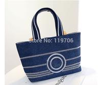 Brand Designer Classic Women's Handbags Casual Canvas Shopper Deauville Shoulder Bags 2014 New Fashion Denim Bolsas Totes