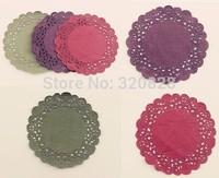 "2014 New 4""/10cm circle Paper Lace Doilies Placemat Craft paper Doyleys Wedding Tableware album Decoration scapbook accessory"