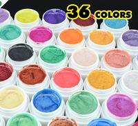 2014 New 36 Colors Nail art UV gel UV Shimmer Gel Nail Gel 5g/bottle, Free shipping