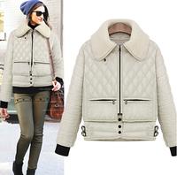 free ship winter women coat 2014 new brand fashion jacket luxury Winter Coat  Women overcoat warm thicken down-cotton slim parka